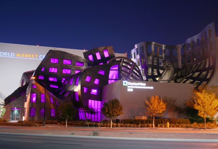Architectural Lighting Design - Keep Memory Alive Event Center<br />Cleveland Clinic Lou Ruvo Center for Brain Health, Las Vegas, Nevada, USA