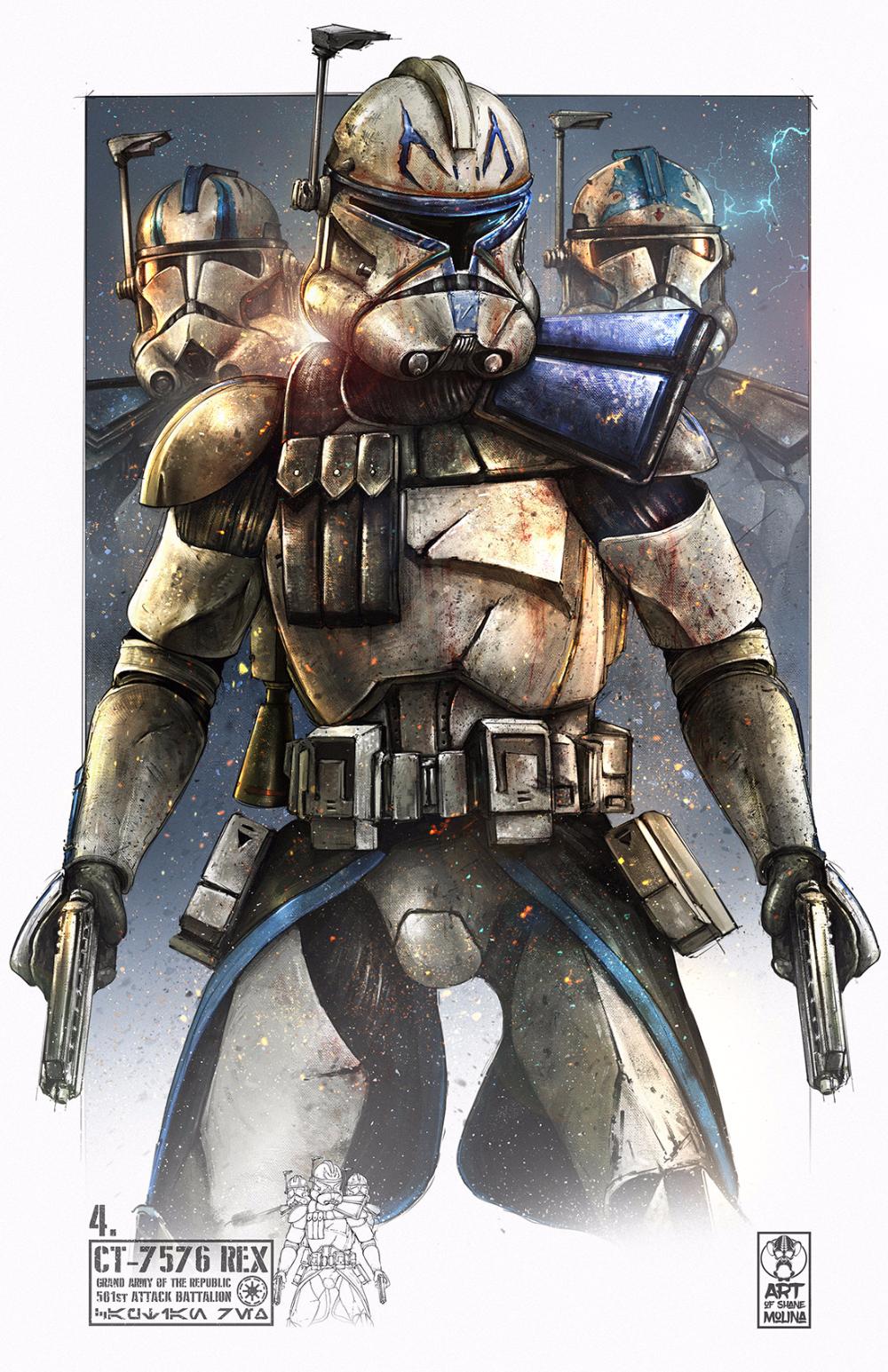 Artstation Ct 7576 Captain Rex Shane Molina Star Wars Drawings Star Wars Artwork Star Wars Poster