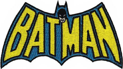 Batman Rotro Superhero Patch Iron On Sew On Embroidered Patch