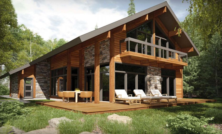 attitude tremblant chalet evasion maisons pinterest chalet maison bois et projet immobilier. Black Bedroom Furniture Sets. Home Design Ideas