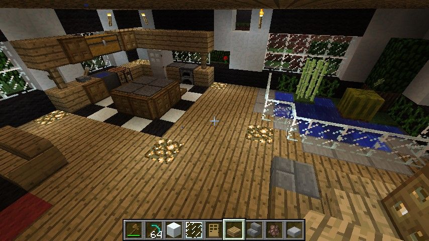 Minecraft House Interior Free PC XBox Pocket Edition Mobile Seeds And Ideas