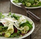 Aged provolone adds bite to this fresh spring salad recipe.