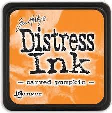 Ranger distress ink carved pumpkin