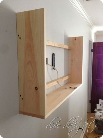 Create A Cabinet Around Tv And Hang A Picture On A Hinge To Cover