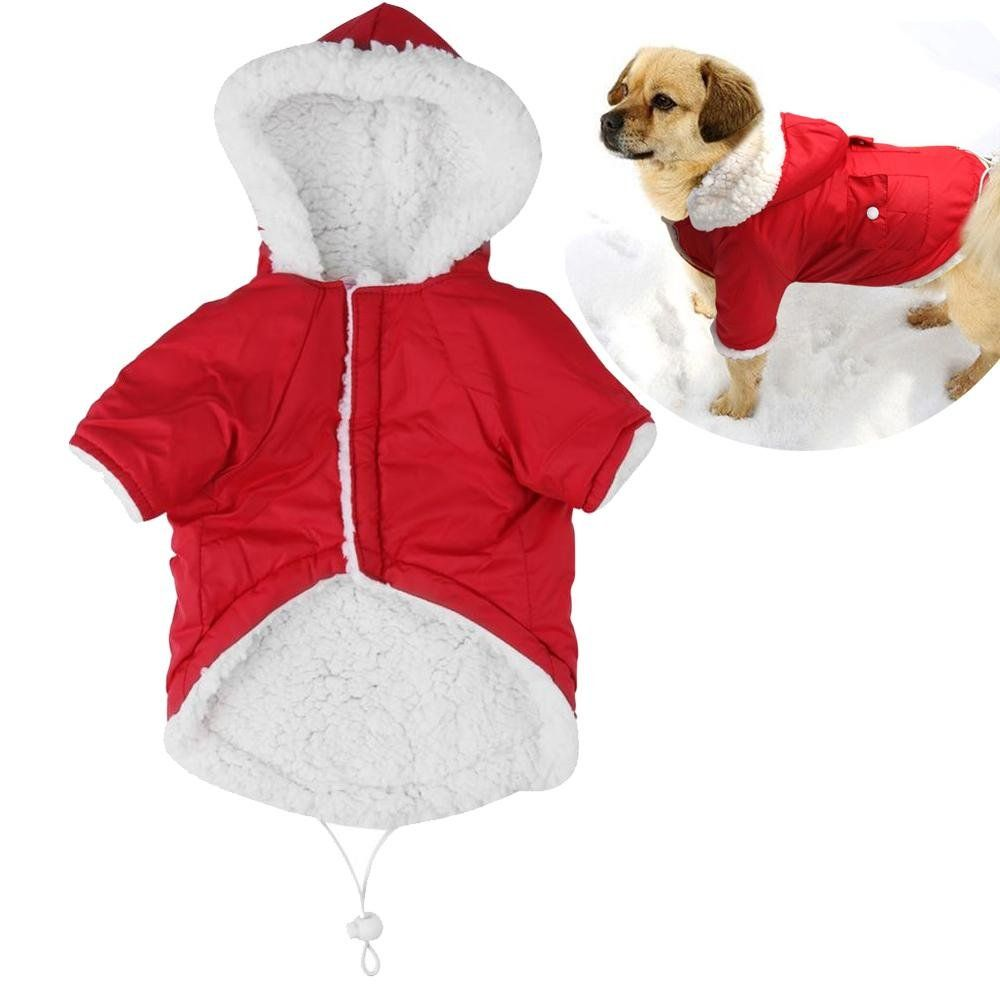 Filfeel Winter Warm Dog Coats Jacket Pet Puppy Fleece Lined Clothes Apparel For Dogsxlred Click Picture To Examine Ev Dog Coats Warm Dog Coats Dog Costumes [ 1000 x 1000 Pixel ]