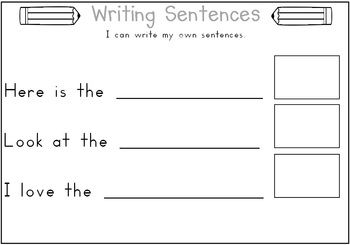 FREE Basic Sentence Structure Displays and Record Sheet 5