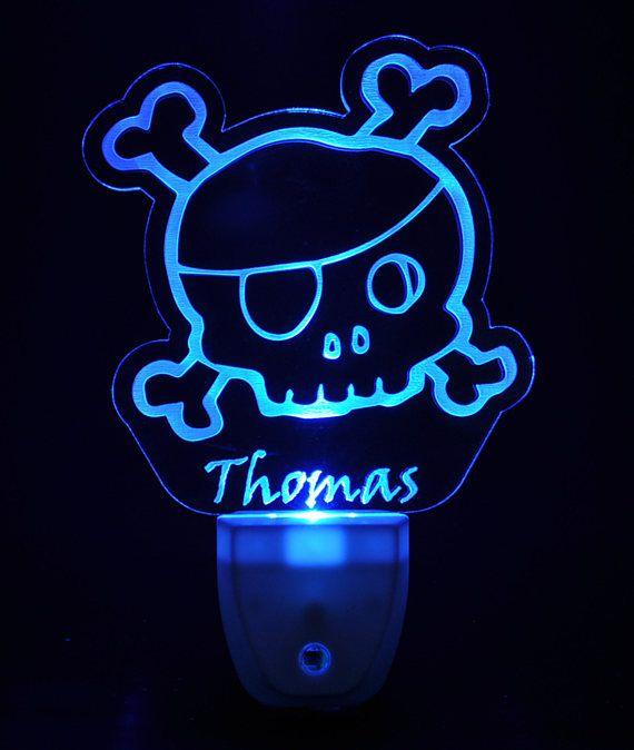 Cartoon Skull Light Sensor Led Plug In Night Light Light Sensor