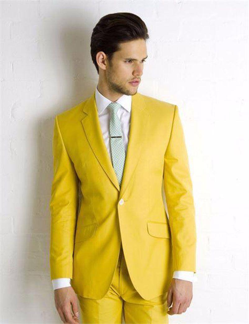 Aliexpress.com : Buy Super Vogue Yellow Wedding Suits For Mens ...