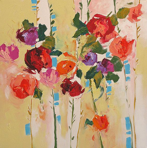 Original Flower Painting, Abstract Art, Abstract Painting, Floral ...