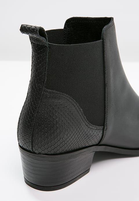Pieces Psbecca Ankle Boot Black Zalando Pl Black Ankle Boots Ankle Boot Black Boots