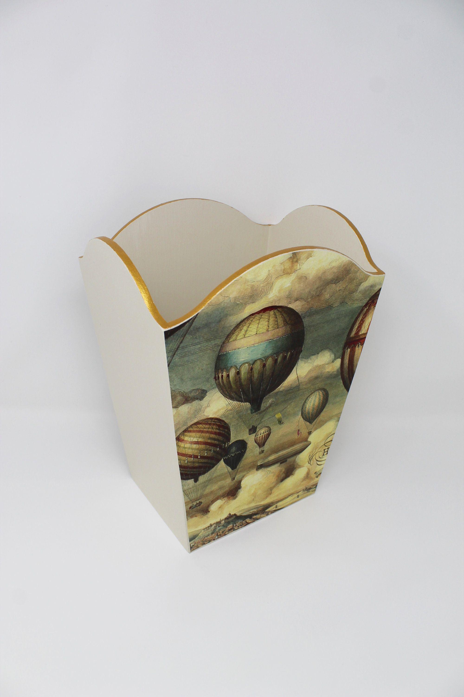 Waste Bin, Waste Paper Basket, Hot Air Balloons, Wedding Gift,