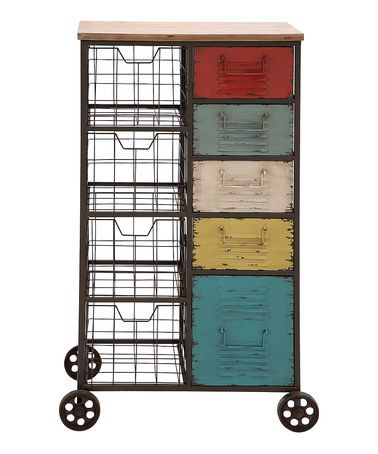Colorful and functional rolling storage cart is a great - medical charts
