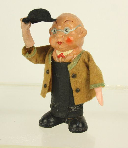 Mechanical Mr. Pickwick Hat Tipping Toy by DasBulliHaus on Etsy