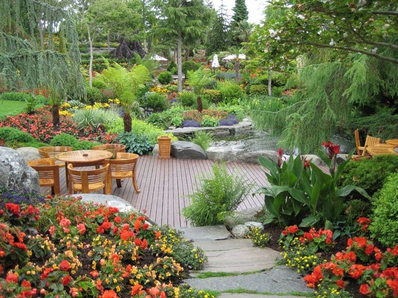 Beautiful backyard garden in norway most beautiful for Beautiful garden decking