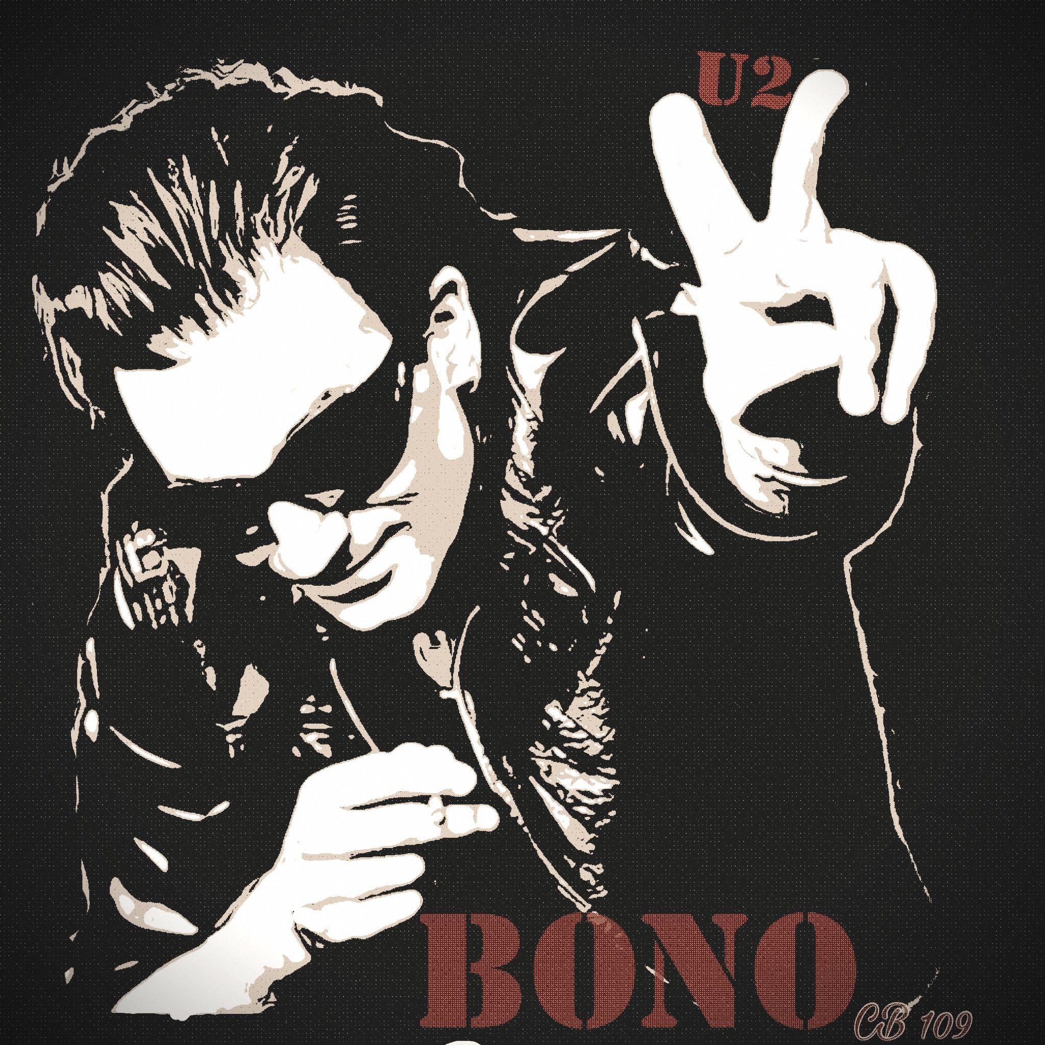 Songs A1 Canvas print U2 Bono