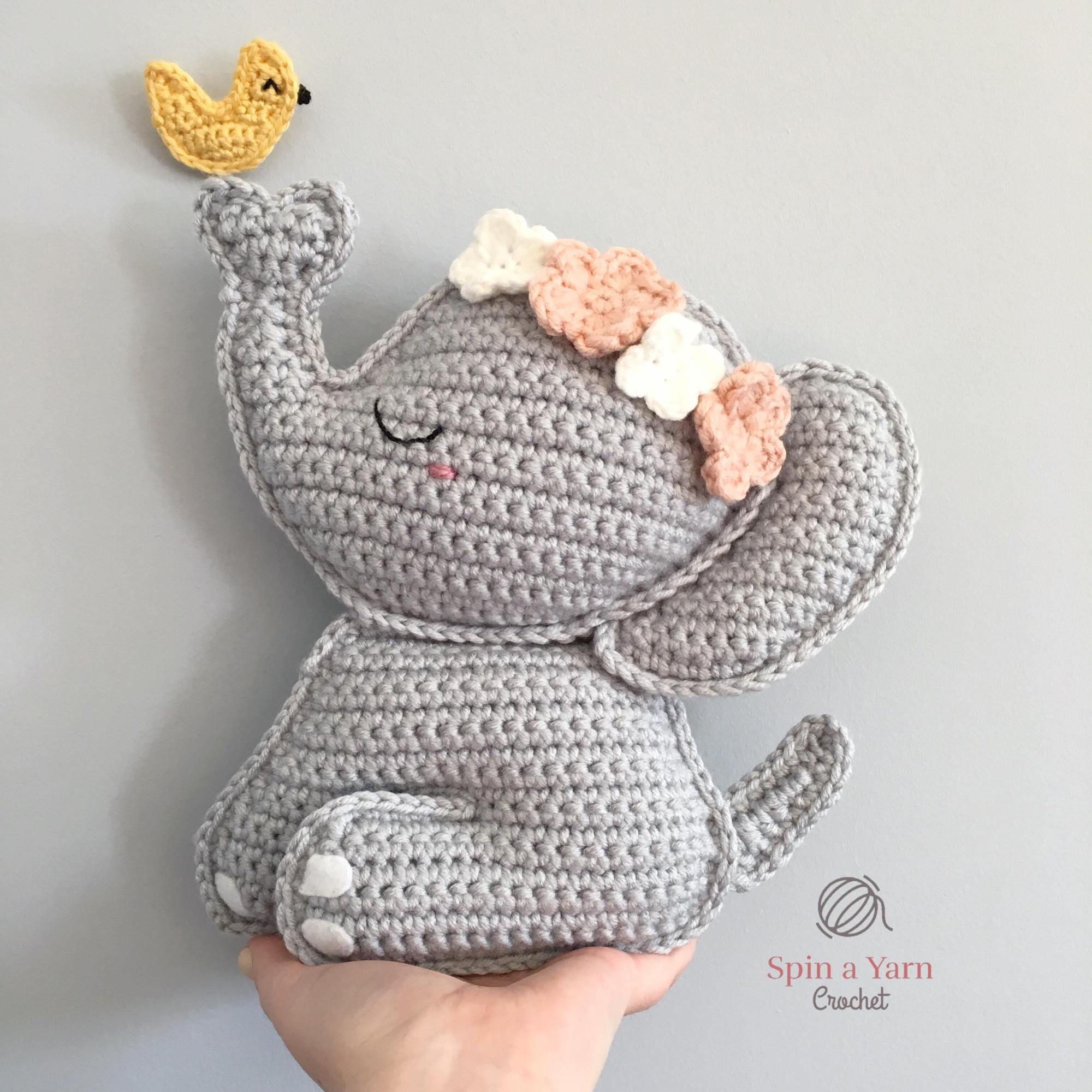 Elephant Amigurumi Free Crochet Pattern • Spin a Yarn Crochet