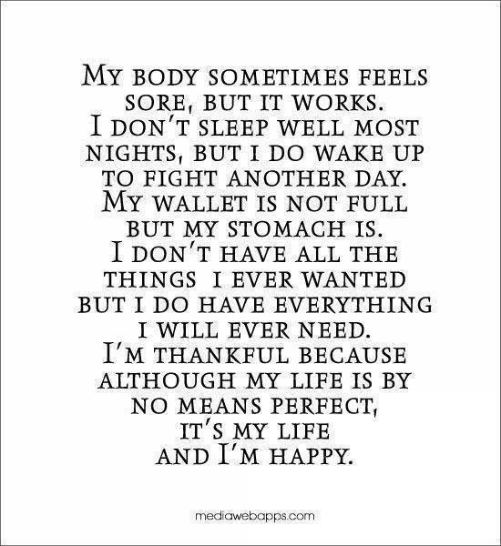 I am thankful because....