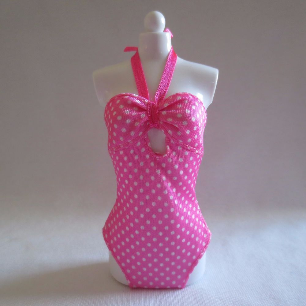 Barbie PINK /& WHITE POLKA DOT One Piece Swim Suit