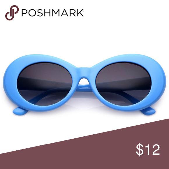 Blue Kurt Cobain Glasses Clout Goggles Glasses Glasses Fashion Urban Outfitters Sunglasses Goggles Glasses