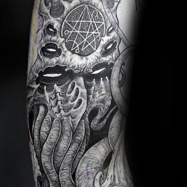 70 Cthulhu Tattoo Designs For Men Masculine Ink Ideas Cthulhu Tattoo Tattoo Designs Men Tattoo Designs