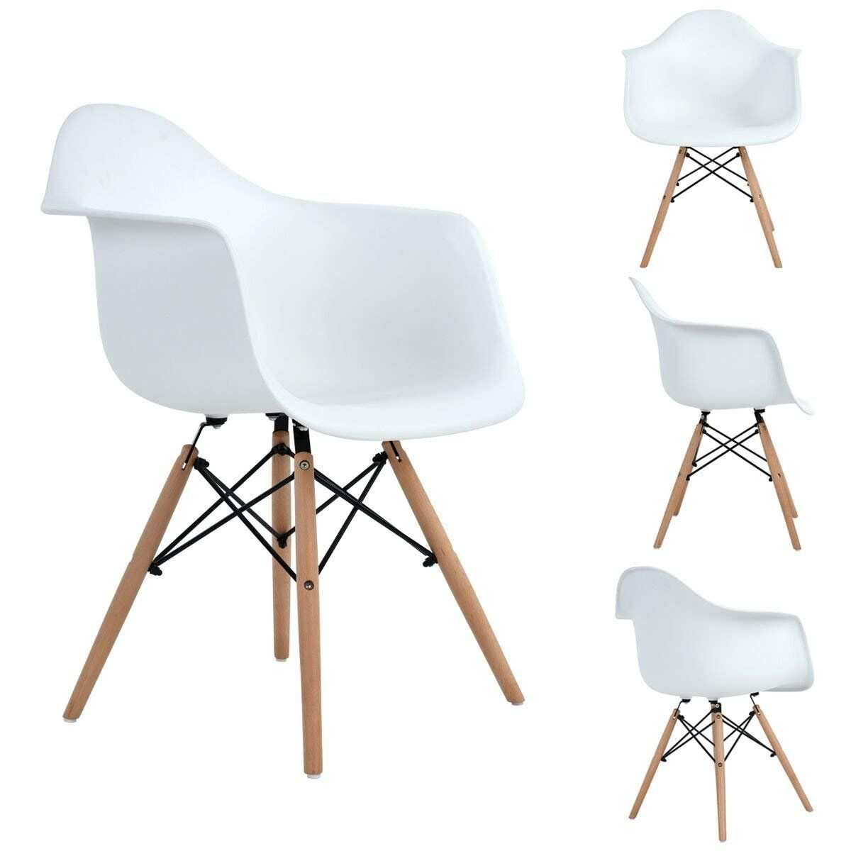 Aingoo Eiffel Style Chairs Kitchen Chairs Set Of 4 Arms Dining