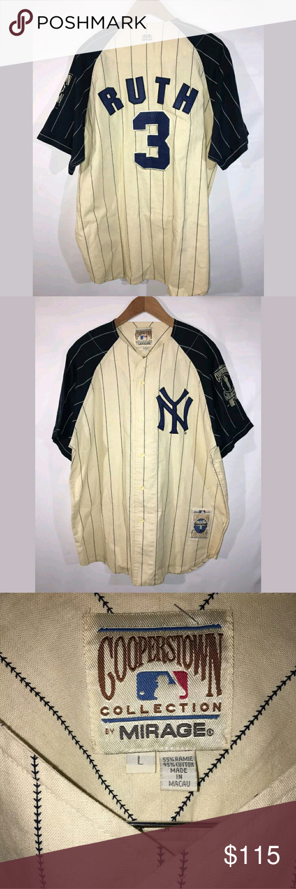 best sneakers da79a 99979 Babe Ruth New York Yankees Jersey Retro Excellent used ...