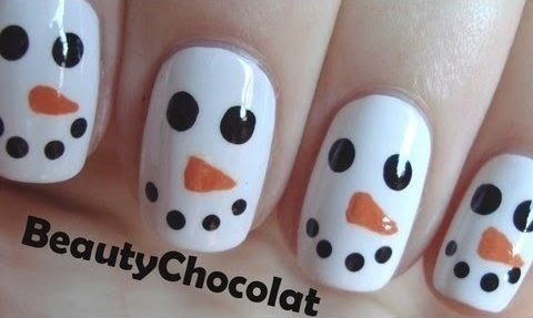 Snowmen Nails They Are Easy And Cute To Do Christmas Nails Easy Snowman Nail Art Nails For Kids