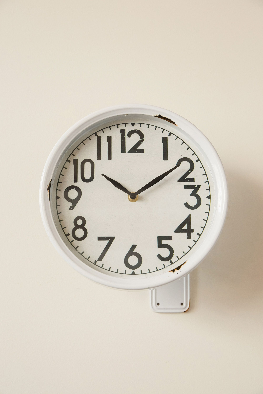 Cafe Clock Round Wall Clocks Clock Decor Wall Clock