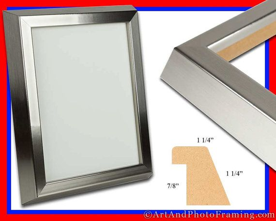 Large Stainless Silver Photo Frame 1.25\