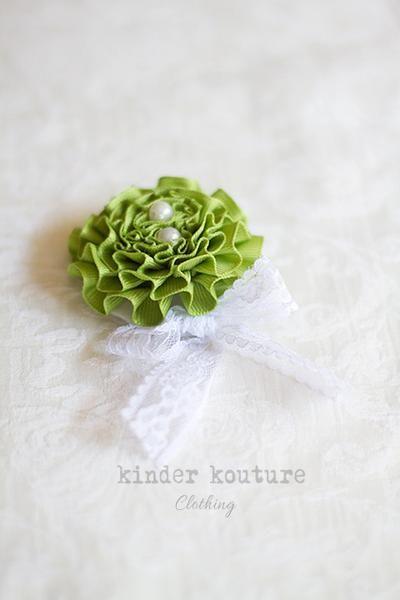 Springy Green Headband - Kinder Kouture