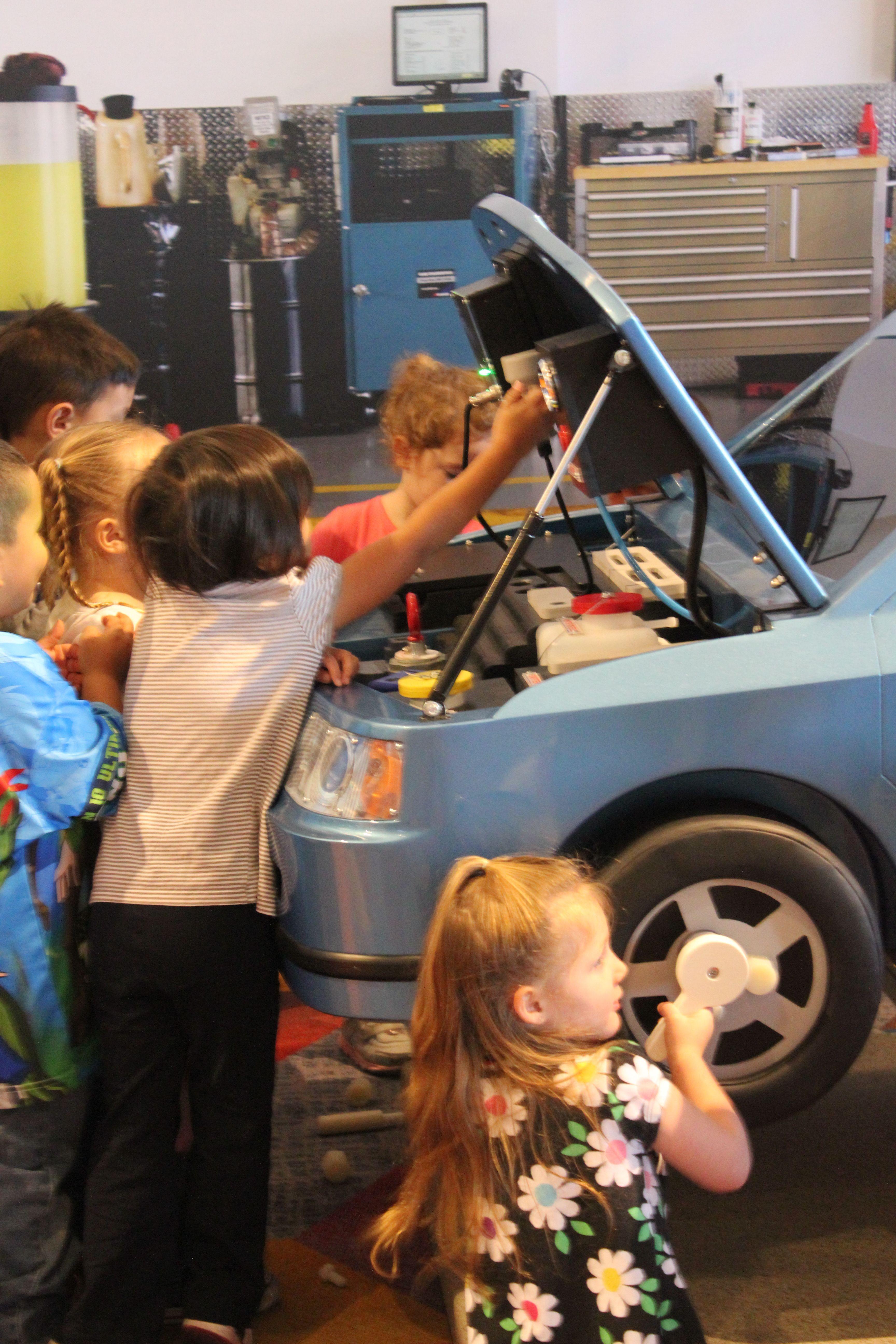 children u2019s museum exhibit the auto care center is a