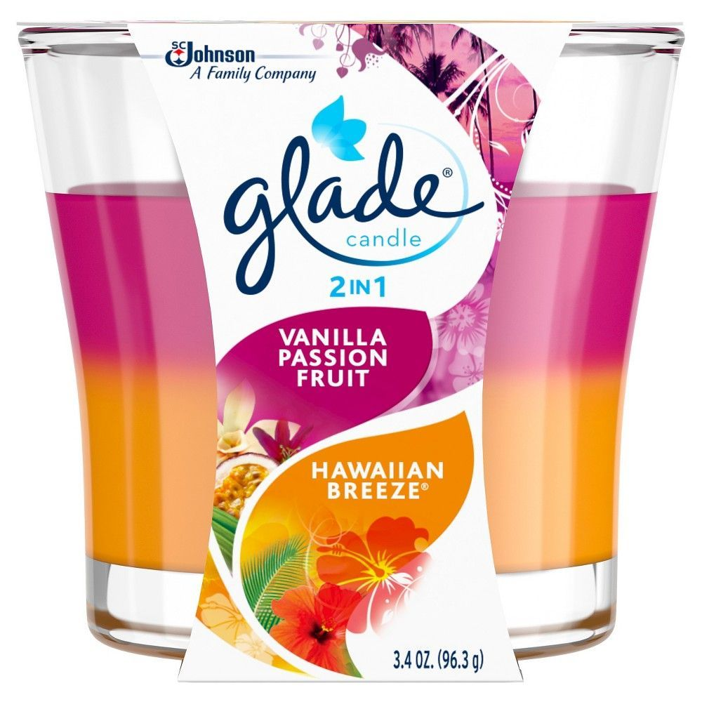 Glade Vanilla Passion Fruit Hawaiian Breeze Candle 3.4oz