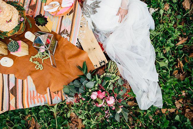 woodsy elopement picnic