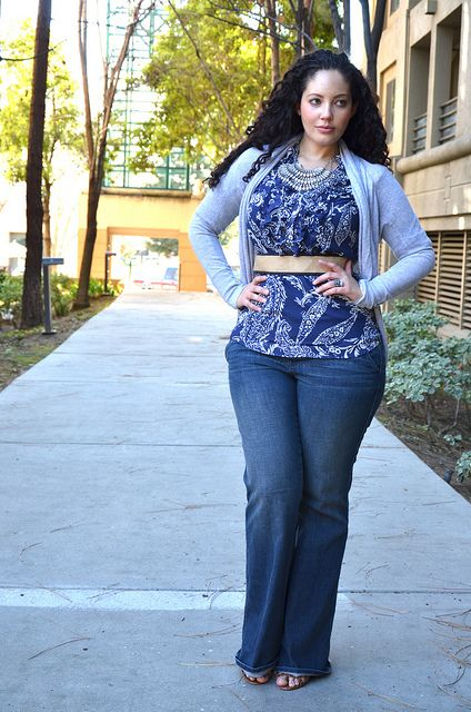 Girl With Curves: Casually Printed