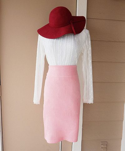 Peach Love High Waist Skirt - MOCONANA