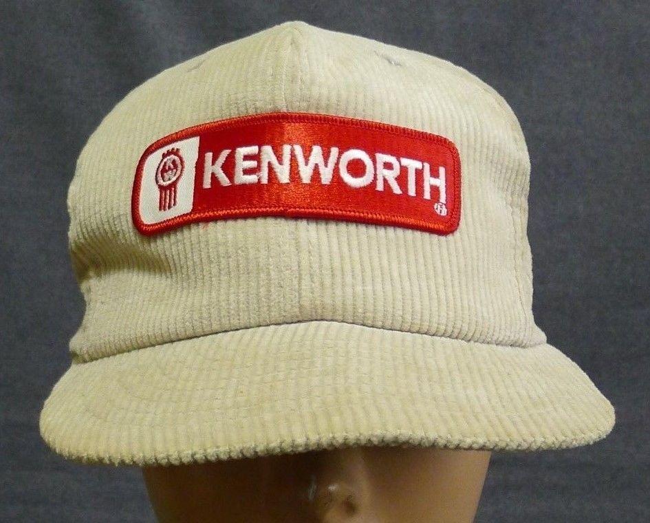 Kenworth Snapback High Profile Hat Cap Corduroy Embroidered Patch Vtg.   SizeAJust  BaseballCap bcb4937032b1