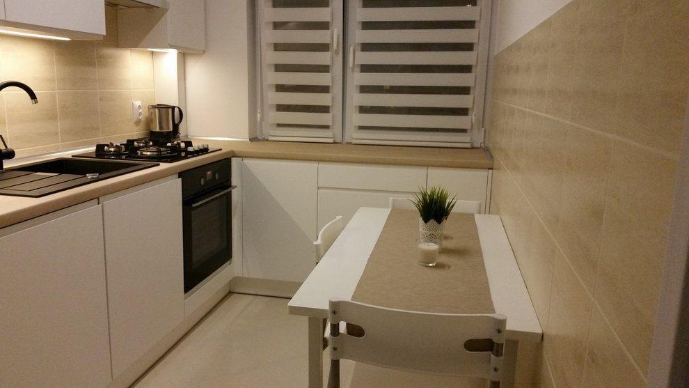 Wnętrza, Waniliowa kuchnia  Biel i wanilia kuchnia zaprojektowana w cał   -> Waniliowa Kuchnia Jakie Dodatki