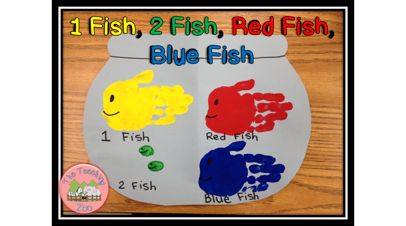 The Teaching Zoo Happy Birthday Dr Seuss 1 Fish 2 Fish Craft