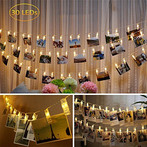 Dadiii 30 LED Photo Clip String Lights Christmas Lights for Hanging
