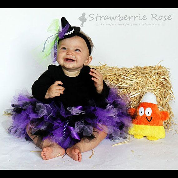 Witch Costume Tutu Baby Witch Costume Toddler by StrawberrieRose ...