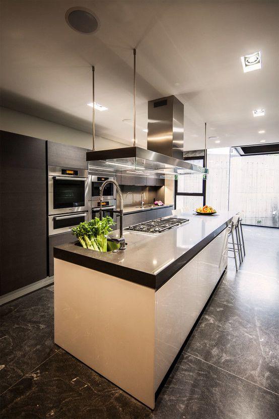 das hochglanzhaus   minimalistische küche, küche