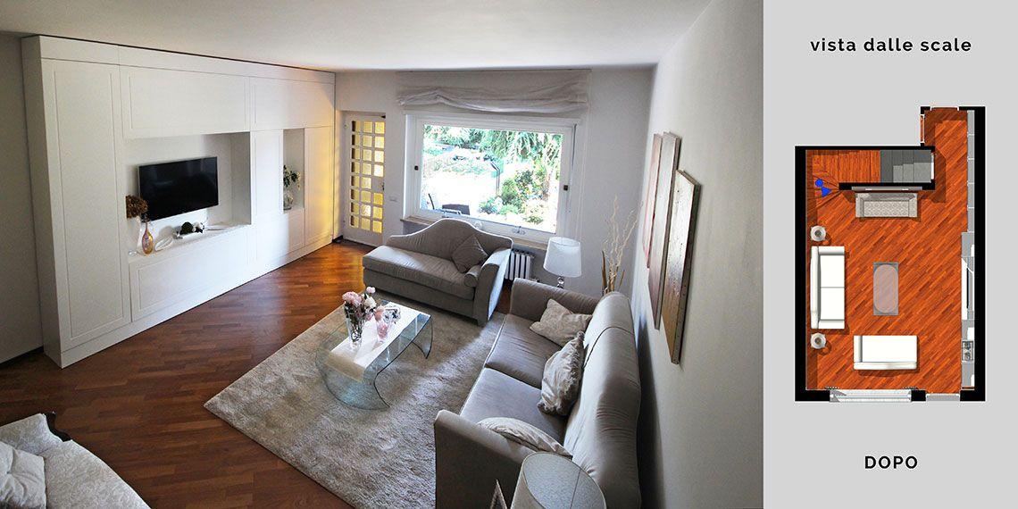 Arredamento classico moderno per il soggiorno a Torino. Una ...