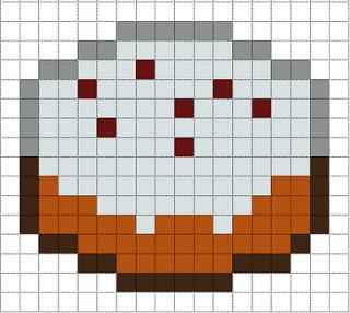 pixel art gateau