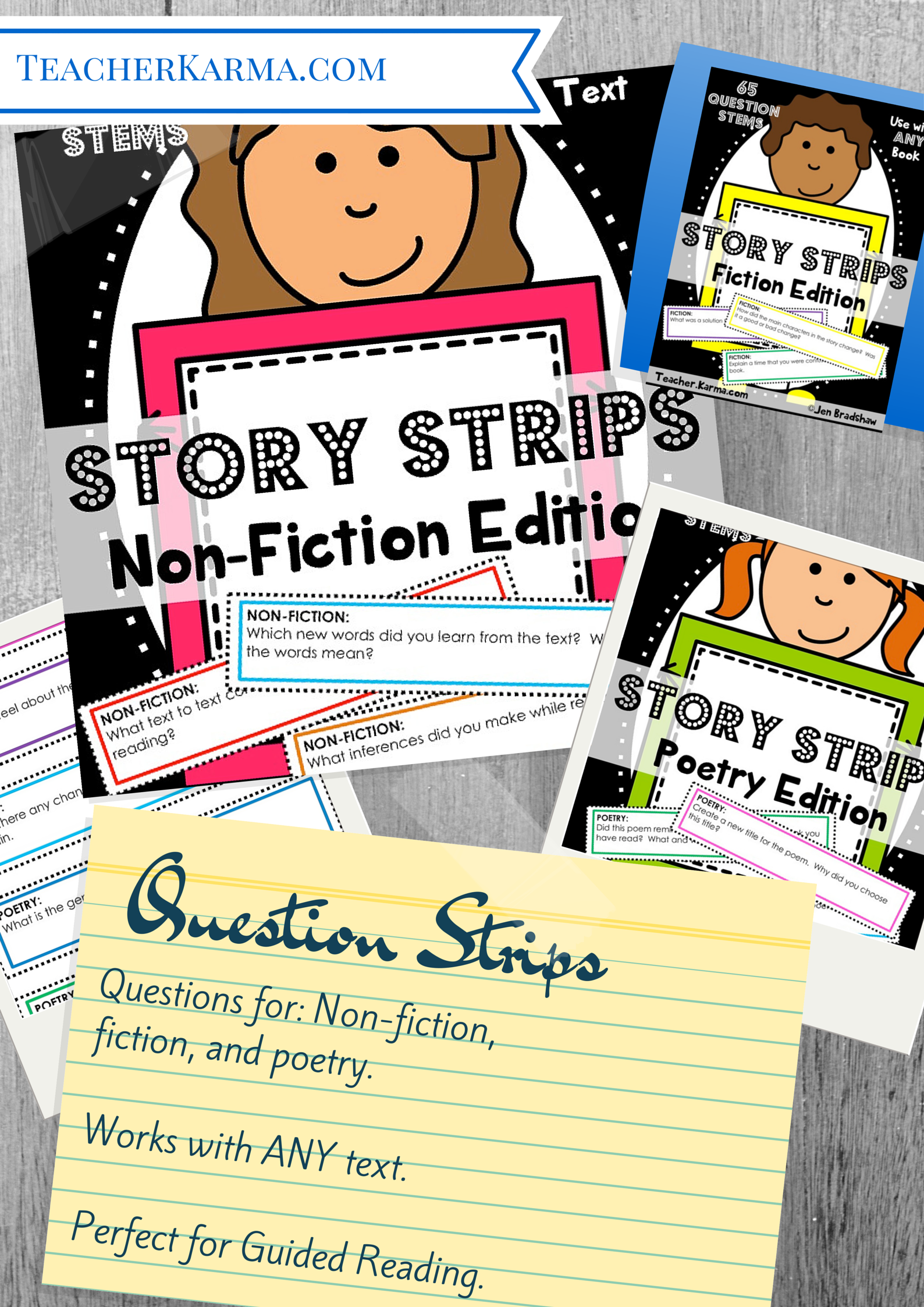 Comprehension Questions Cards To Use With Any Text