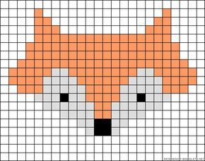 Fox perler bead pattern