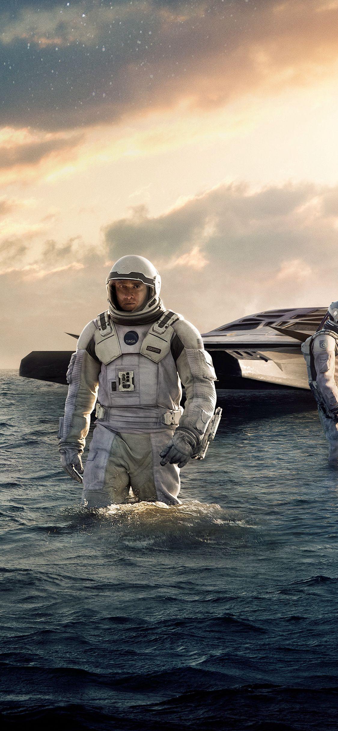 Interstellar Sea Film Space Art Iphone X Wallpaper Interstellar Interstellar Movie Space Art
