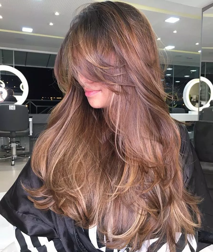 50 Prettiest Long Layered Haircuts with Bangs for