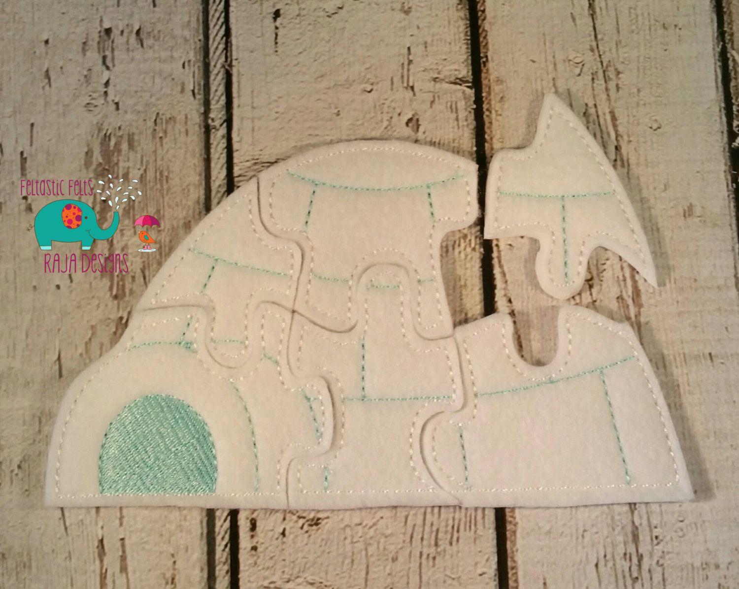Felt Igloo Puzzle Embroidered Embroidery Jigsaw Puzzle