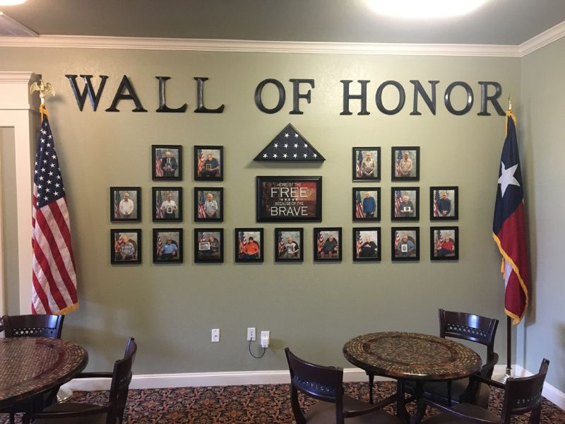 This Wall Of Honor Recognizes All The Veterans In Our
