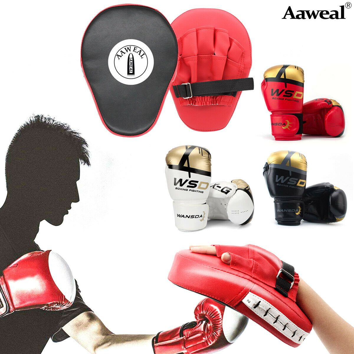 Curved Focus Pads Mitts With Boxing Bag Gloves Mitts Hook and Jab Punch Bag Kick
